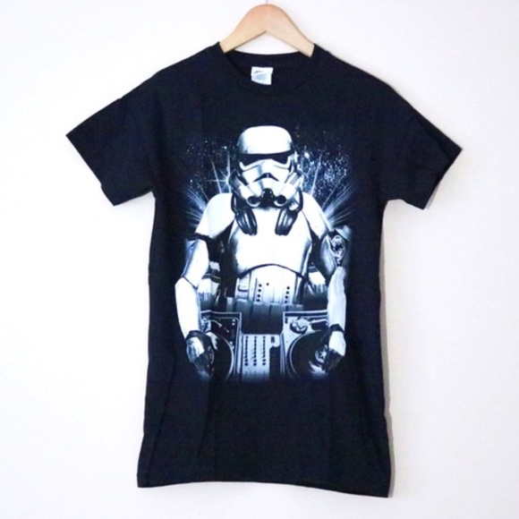 Star Wars DJ Stormtrooper Black Graphic Tee Shirt